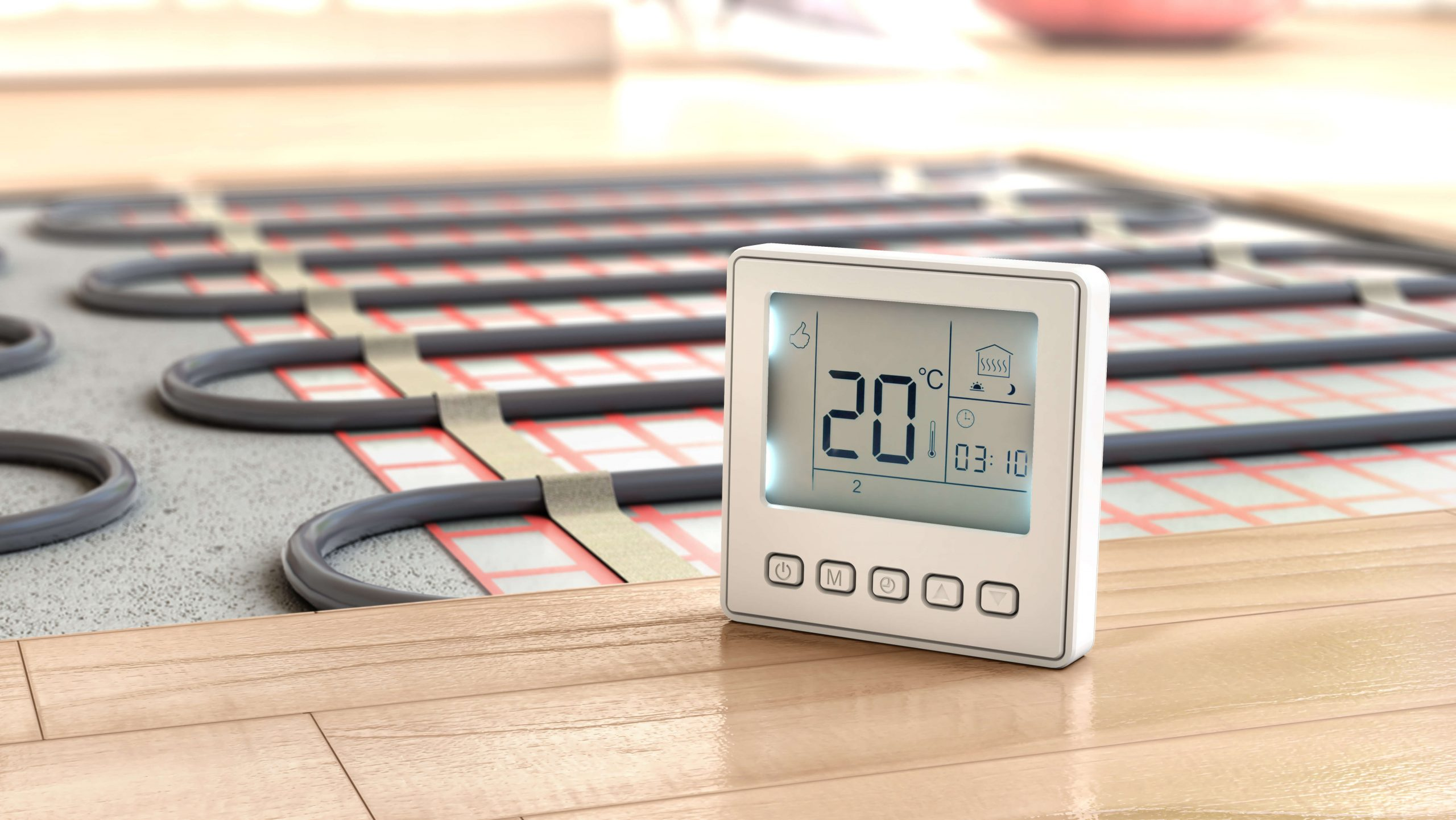 Electric underfloor heating installation